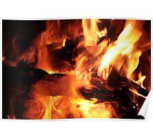 Burning Logs Poster