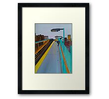 Waiting On A Train Framed Print