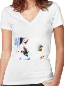 Cani vette' Women's Fitted V-Neck T-Shirt