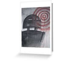 Robot Bulls-Eye Greeting Card