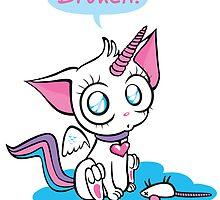 broken – unicorn kitty by Kopfzirkus
