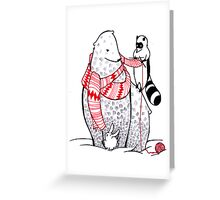 Scarf to the bears Greeting Card