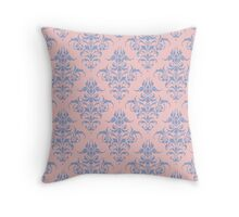 Damask Pattern | Rose Quartz and Serenity | Pantone Colors of the Year 2016 Throw Pillow