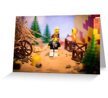 Mr Lego Greeting Card