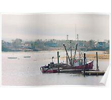 Red Fishing Boat, Chatham, Cape Cod, Massachusetts Poster