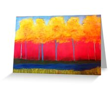 Abtract of fall trees Greeting Card