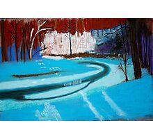 Frozen stream near Chardon, OH Photographic Print