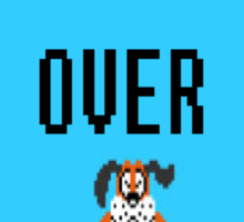 Game over duck hunt Sticker