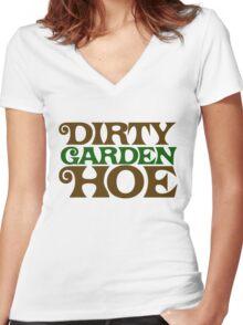 Dirty Garden HOE Women's Fitted V-Neck T-Shirt