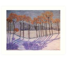 An early snow Art Print