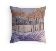 An early snow Throw Pillow