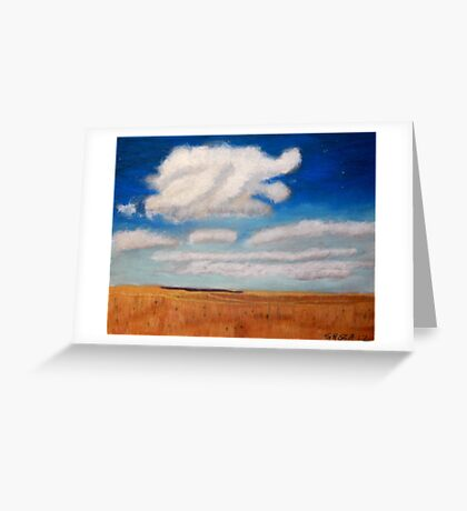 Big sky country with clouds Greeting Card