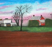 NJ farm on canvas by victorgroza