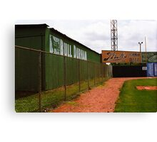 Baseball Field & Bull Durham Sign Canvas Print