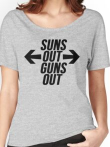 Suns Out, Guns Out Women's Relaxed Fit T-Shirt