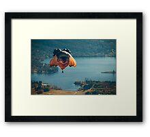Skywhale over Canberra Framed Print