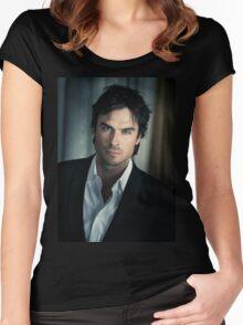 Ian Somerhalder Damon Salvatore Women's Fitted Scoop T-Shirt