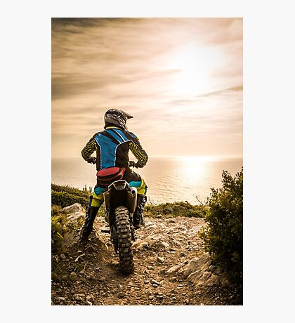 Enduro bike rider Photographic Print