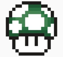 8-Bit 1-Up Mushroom (Green) by gam3r