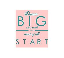 Dream Big Start Small by chesapeaketides