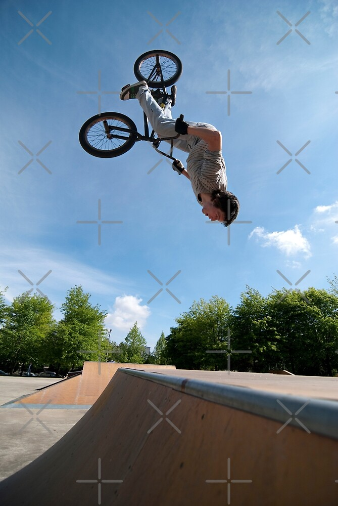 BMX Bike Stunt Back Flip by homydesign