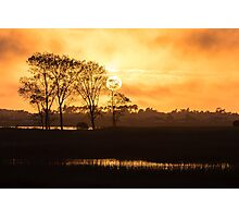 Warm calm sunset Photographic Print