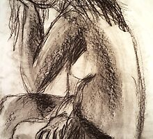 Charcoal Figure by Sarah Frick