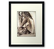 Charcoal Figure Framed Print