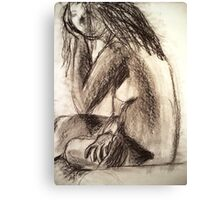 Charcoal Figure Canvas Print