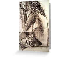 Charcoal Figure Greeting Card