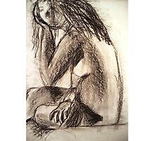 Charcoal Figure Photographic Print