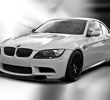 2008 BMW M3 in B &W by DaveKoontz