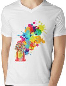 Gumballs & Gumballs & Gumballs Mens V-Neck T-Shirt