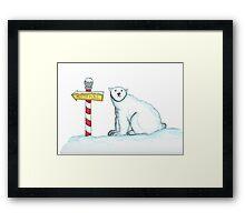Day 13: Polar Bear Framed Print