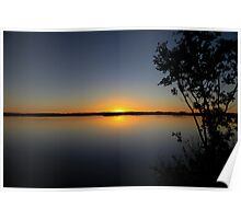 Sunset in the outback Poster