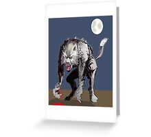 Beastial Werewolf Greeting Card