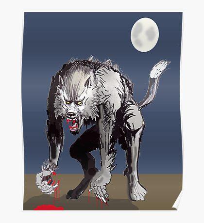 Beastial Werewolf Poster