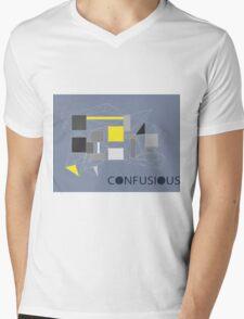 Confucius wallpaper (grey) Mens V-Neck T-Shirt