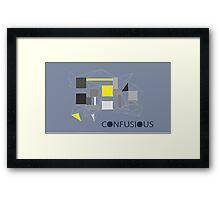 Confucius wallpaper (grey) Framed Print