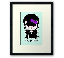 Kitty Of The Dark Framed Print