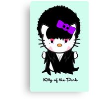 Kitty Of The Dark Canvas Print