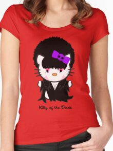 Kitty Of The Dark Women's Fitted Scoop T-Shirt