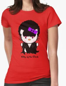 Kitty Of The Dark Womens Fitted T-Shirt