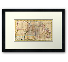 MYSTERIOUS SOUTHEAST UNITED STATES 1831 Framed Print