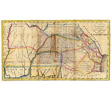 MYSTERIOUS SOUTHEAST UNITED STATES 1831 Photographic Print