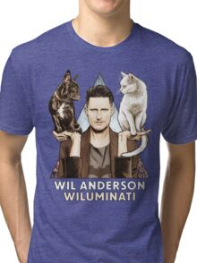 Wil Anderson: Wiluminati 'Ramona and Ziggy' Tri-blend T-Shirt