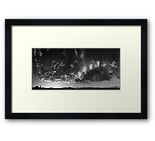 ©HCS Infinite Sunset With Many Faces Of Clouds IV In Monochrome RBc Framed Print