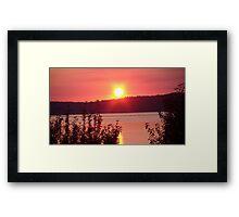 Red Sun Framed Print