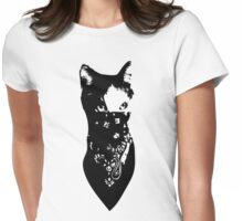 Cat Bandana Womens Fitted T-Shirt
