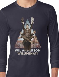 Wil Anderson: Wiluminati 'Triangle' Long Sleeve T-Shirt